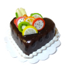 Chocolate Heart Valentine Cake