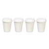 Set of Four Take Out Fast Food Cups With Removable Lids