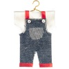 Child Overalls and Shirt on Metal Hanger