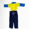 Boys Wearable Denim Pants Blue Yellow Shirt
