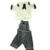 Wearable Boys Denim Overall Shorts Set