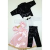 Wearable Suit and Pink Satin Dress for Dollhouse Boy and Girl