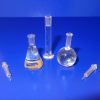 Set of Laboratory Beakers and Syringes