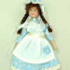 Victorian or Colonial Farm Girl Hand Painted Poseable Doll