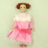 Red Hair Victorian Girl in Pink Dress