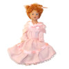 Red Haired Victorian Girl Hand Painted Poseable Doll
