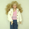 Hand Crafted Porcelain Modern Blonde Mom Dollhouse Doll