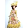 Victorian Lady in Floral Gown Hand Painted Porcelain Doll