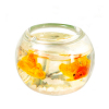 Fancy Goldfish In Decorated Fish Bowl