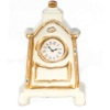 White and Gold Mantle Clock Non-working Dollhouse Miniature