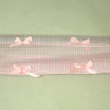 Pink Gingham Valance on Decorative Metal Curtain Rod