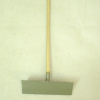 Metal Snow Pusher Shovel with Wood Handle