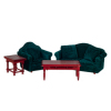 Velvety Green Living Room Set