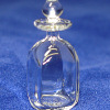 Hand Blown Square Clear Glass Decanter by Phil Grenyer