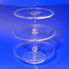 Hand Blown Glass Three Tier Cakestand by Phil Grenyer