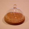 Hand Blown Glass Domed Cheese Server by Phil Grenyer