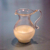 Handblown Glass Pitcher of Milk by Phil Grenyer