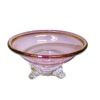 Phil Grenyer Three Leg Cranberry Glass Bowl
