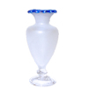 Frosted Grecian Vase with Blue Edge by Phil Grenyer
