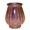 Phil Grenyer Ribbed Cranberry Glass Tulip Vase