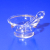 Phil Grenyer Glass Apothecary Medical Doctor Mortar & Pestle Set