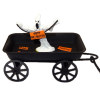 Handcrafted Halloween Ghost on Wagon