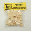Tiny Miniature Handcrafted Dollhouse Roof Shingles Bag