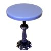 Jason Getzan Periwinkle Bistro Table with Ornate Metal Base