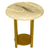 Jason Getzan Round Marble Top Diner or Cafe Table