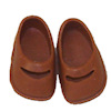 Heidi Ott Wearable Children's Shoes - Light Brown Mary Janes