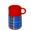 Handcraftd Blue Plaid Vintage Hot Soup Container