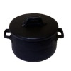 Large Black Metal Cooking Pot with Removable Lid
