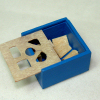 Handcrafted Working Wood Blue Shape Box Toy