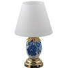 Battery Operated Blue and White Porcelain LED Table Lamp