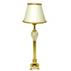 Working Brass Finish Floor Lamp with Faux Crystal Accent