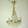 Working Faux Crystal Candle Chandelier