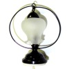 Working Inverted Tulip Shade Black Table Lamp