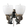 Working Linden Double Lamp Wall Sconce