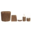 Wicker Look Bathroom Accessory Set