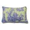 Classic Blue and Yellow Horse Toile Pillow with Piping