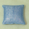 Soft Handcrafted Pillow - Modern Denim Shimmer