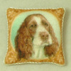 Artisan Cocker Spaniel Soft Pillow with Piping