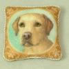 Soft Handcrafted Pillow - Golden Retriever Dog