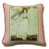 Pink Pillow With Lady