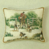Soft Handcrafted Pillow with Piping - Fox Hunt