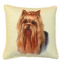 Artisan Yorkshire Terrier Yorkie Soft Pillow with Piping