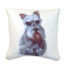 Artisan Schnauzer Dog Pillow Soft Pillow with Piping