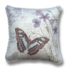Handcrafted Butterfly Pillow with Satin Piping