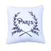 Handcrafted Paris Pillow With Leaf Garland Design with Piping