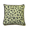 Exotic Leopard Print Pillow with Piping Artisan Crafted